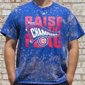 Chicago Cubs Champions Custom Bleach Tee sz XL